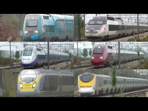 A Day of Spotting High Speed Trains at TGV Haute Picardie  060917
