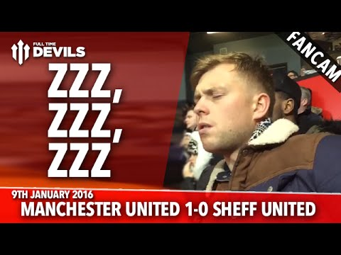 Fan Sleeping During Manchester United 1-0 Sheffield United | FANCAM