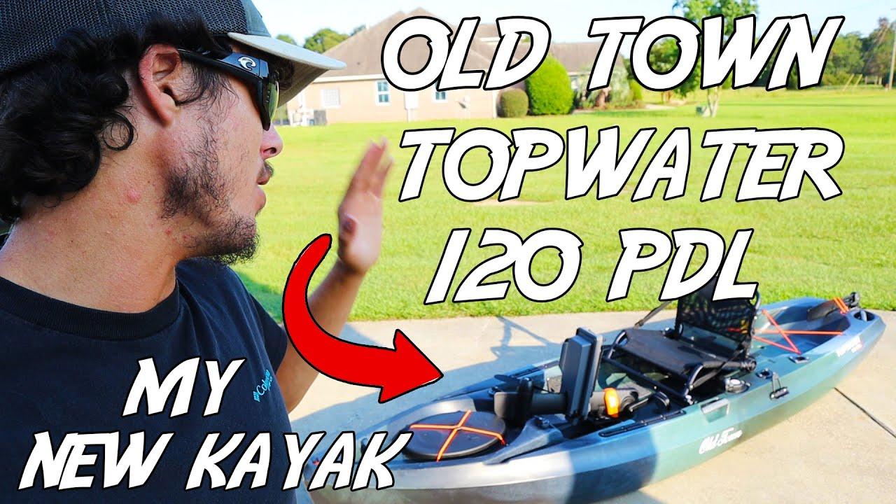 Repeat My New FISHING Kayak! OLD TOWN TOPWATER 120 PDL KAYAK