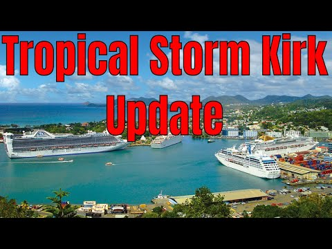 Tropical Storm Kirk Heads to Guadeloupe Dominica Martinique St Lucia Barbados