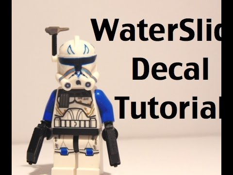 Lego how to make and apply waterslide decals youtube