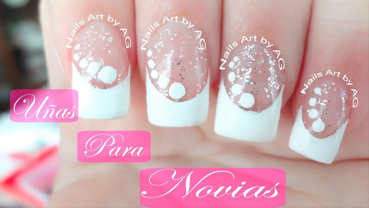 Decoraci n de u as para novias manicure frances con for Cristales swarovski para decorar unas