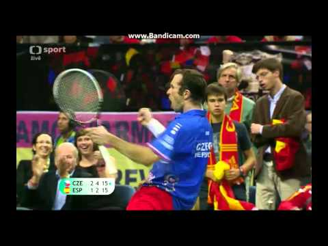 2012 Davis Cup final - diving volley by Stepanek