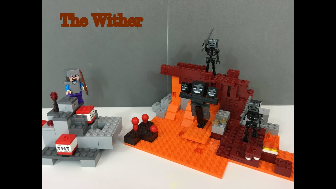 how to build lego minecraft wither boss