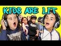 KIDS REACT TO KIDS ARE LIT DANCE COMPILA