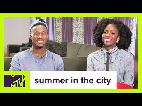 Jessie T. Usher and Teyonah Parris Play TRUTHORDARE  Summer in the City  MTV