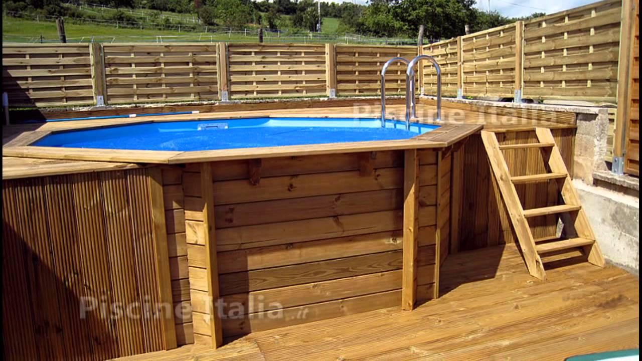 Piscine legno esagonali e ottagonali circolari youtube - Rivestire piscina fuori terra fai da te ...