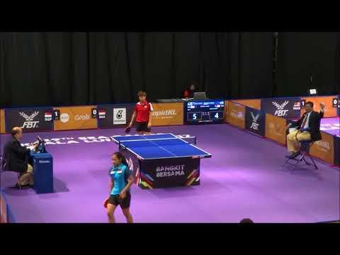 Sea Games 2017 Table Tennis,  women Team Singapore V Indonesia  Second Single