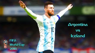 Argentina vs Iceland | FIFA World Cup 2018 | PES 2018 PC Gameplay