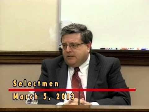 Selectmen Meeting - Town Manager applicant Bob LeLacheur