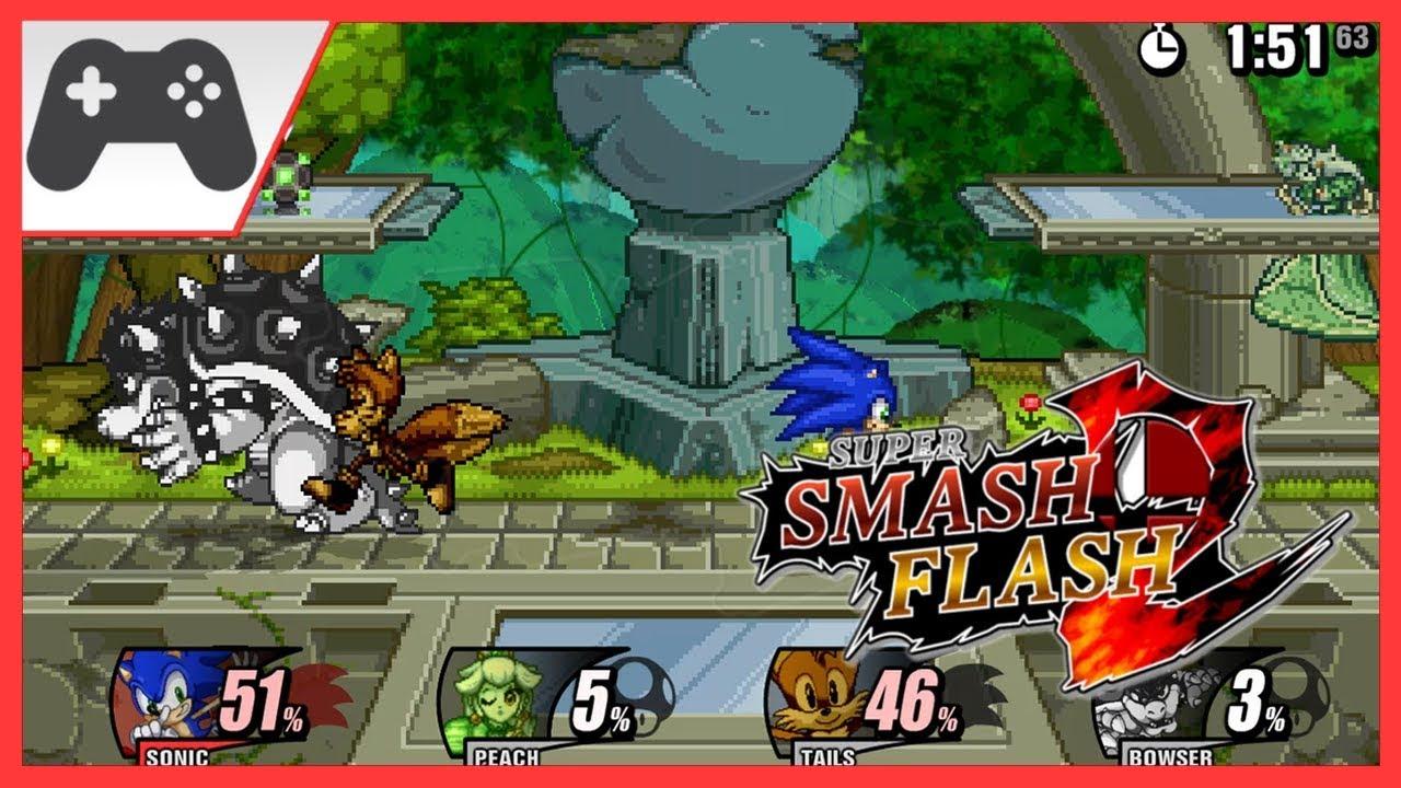 Super Smash Flash 2 Beta Gameplay Sonic - YouTube