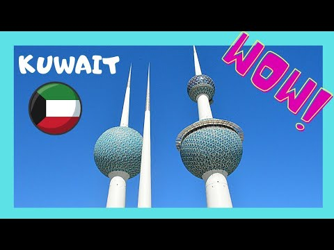 KUWAIT TOWERS: beautiful PANORAMIC VIEWS of KUWAIT and the Persian Gulf