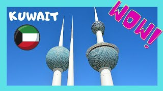 KUWAIT TOWERS: beautiful PANORAMIC VIEWS of KUWAIT and the Persian Gulf