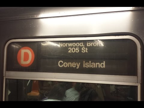 On Board Norwood Bound R68 (D) Train From Coney Island to Grand Street via Manhattan Bridge