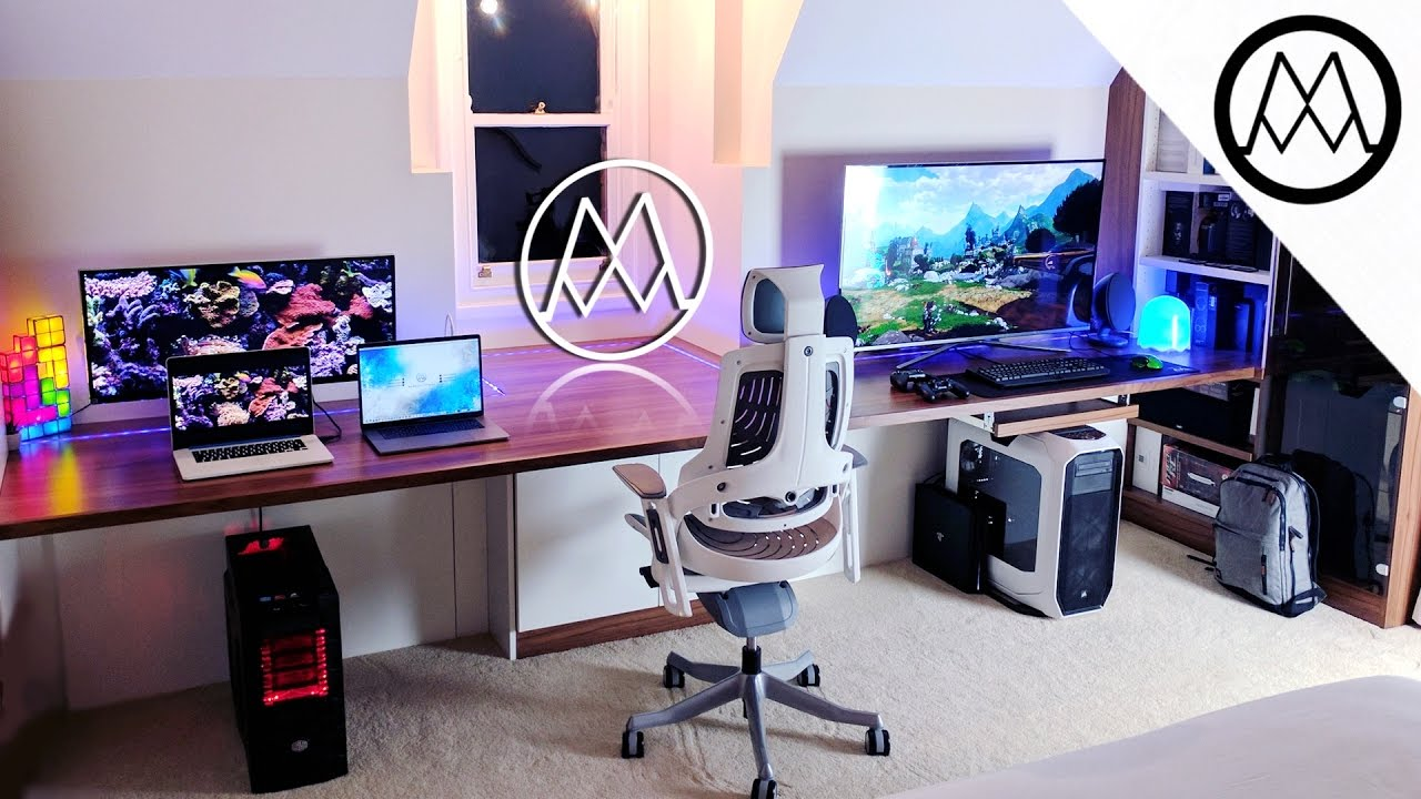 Ultimate 15 000 gaming setup desk tour 2017 youtube How to make a gaming setup in your room