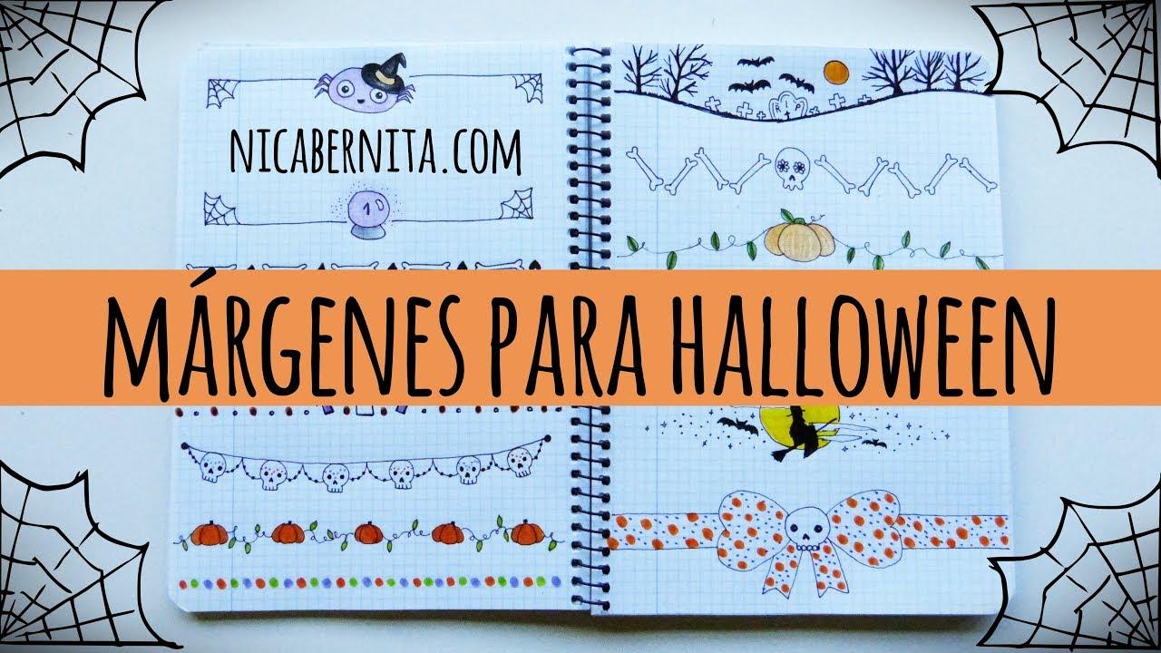 Márgenes Para Cuadernos Y Bordes Para Cartas Con Dibujos De Halloween 1 Nica Bernita