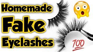 Homemade eyelashes||how to make eyelashes||eyelash extensions at home||eyelashes making||Sajal Malik