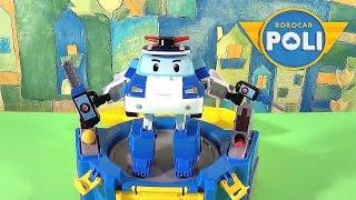 Поли Робокар с кейсом - Обзор игрушки. Robocar Poli -  ロボカーポリー 로보카 폴리 - Ro bo ka Polli