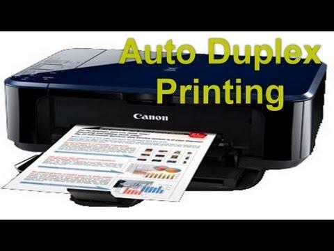 Canon Pixma Mg3170 - Auto Duplex Printing - Preview - YouTube