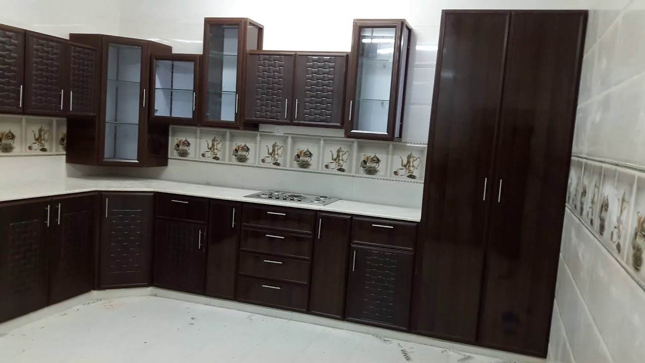 Modern And Beautiful Brown Aluminium Kitchen In Pakistan India Youtube