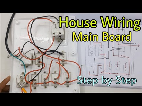 Electrical Wiring Diagram >> House Wiring of Main Electrical Board, Step by Step (In Hindi) - YouTube