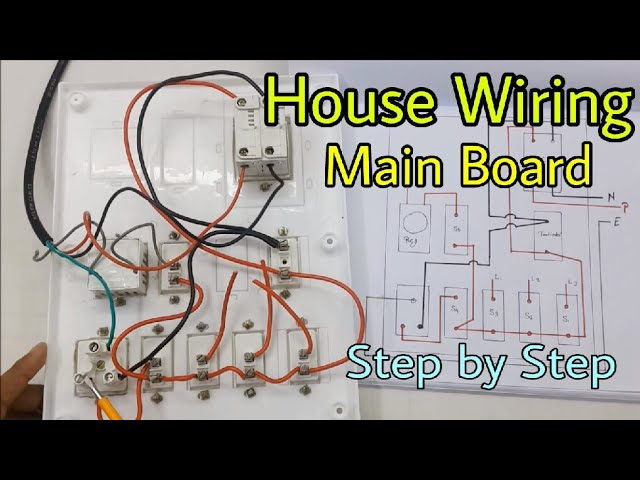 House Wiring Of Main Electrical Board Step By Step In Hindi Youtube