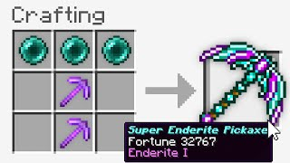 Minecraft UHC but I added a *NEW* Enderite Pickaxe..