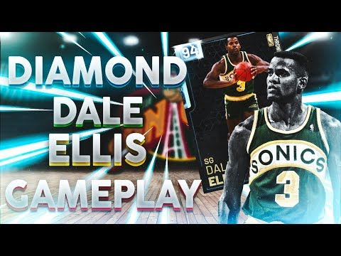 DIAMOND DALE ELLIS GAMEPLAY! 50 POINT DEBUT WITH INSANE SHARPSHOOTER! NBA 2K19