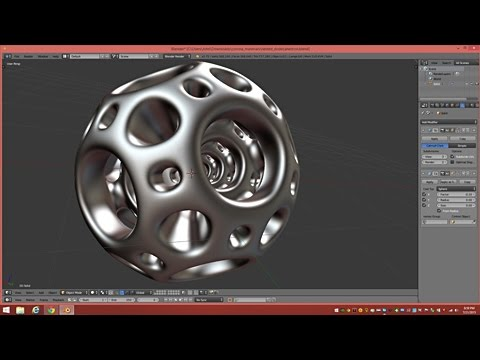 Model A Nested Dodecahedron Object In Blender 2.75