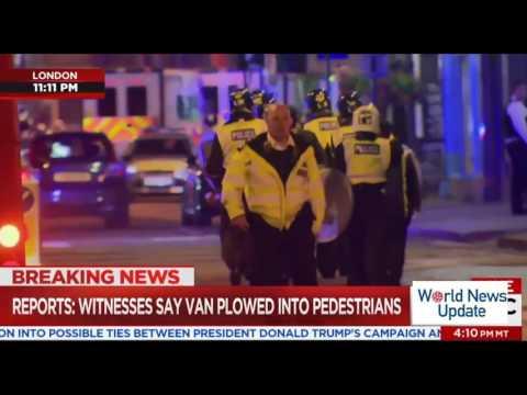 London Bridge Closed After  #x27;Major Incident, #x27; Report of Van Hitting People