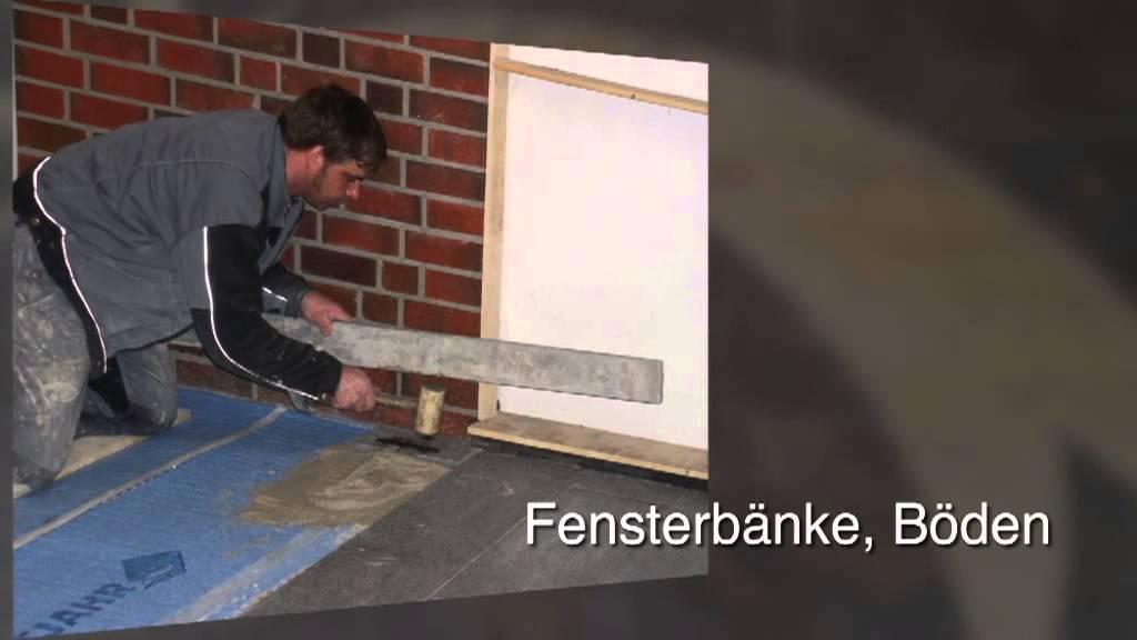 Arbeitsplatten - Syke Andreas Lührs Mamor - Granit - Fliesen - YouTube