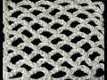 Crochet   Punto Red en forma Lineal