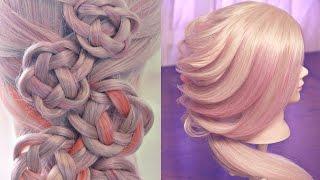 10 уроков - Необычные косы и плетения - Hairstyles tutorials compilation (time 26:20) by REM