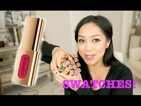 NEW Loreal Extraordinaire Color Riche Liquid Lipstick Swatches! - itsjudytime