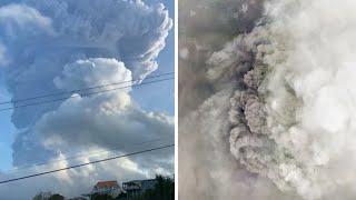 video: Watch: Timelapse of La Soufriere volcano erupting on St Vincent