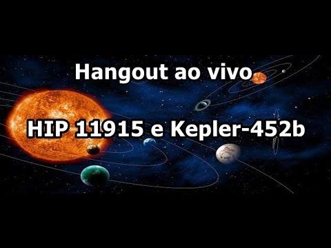 55º Hangout Ciência e Astronomia: HIP 11915 E Kepler-452b