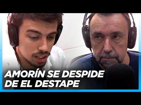 """Juan Amorín anuncia al aire su alejamiento de """"El Destape"""" + Navarro anuncia nuevas incorporaciones"""