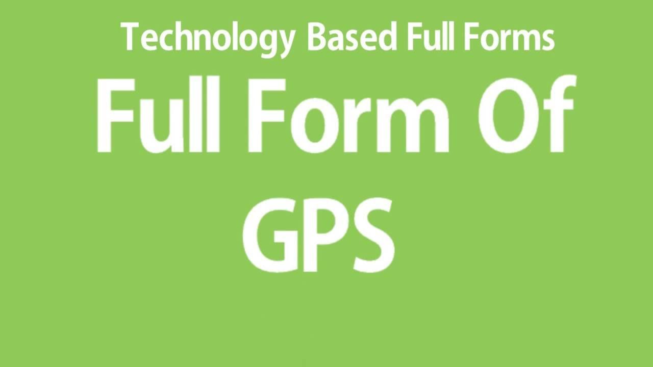 Full Form Of GPS - YouTube