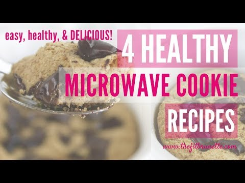 4-healthy-&-fit-dessert-recipes:-one-minute-healthy-microwave-cookies