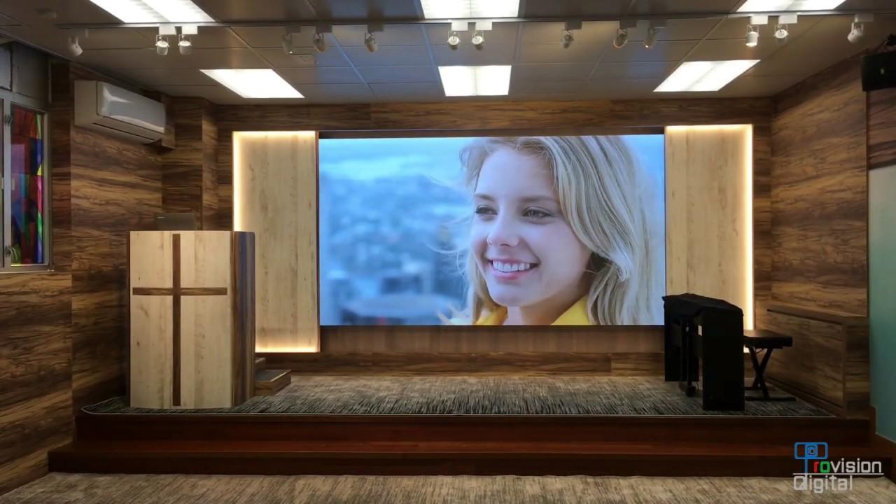 中華傳道會安柱中學小禮堂 LED 顯示屏幕
