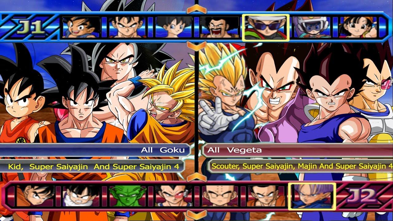 All Goku VS All Vegeta - Dragon Ball Z Budokai Tenkaichi 3