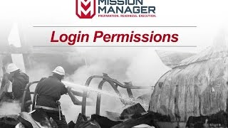 Mission Manager - Login Permissions
