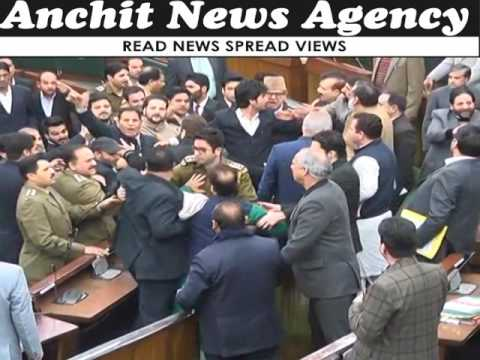 Big fight in Jammu kashmir Assembly ! National conference mla's vs Forest minister Lal Singh !