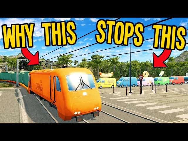 How Cargo Trains Cause AND Solve Traffic in Cities Skylines!