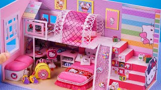 DIY Miniature House ~  10 Minute DIY Miniature Crafts  ~ 미니어쳐 헬로 키티 인형집 만들기 #119