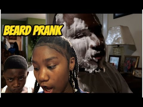 Beard Prank On Poppa Taylor (A MUST SEE)😂😭!!!!!!!