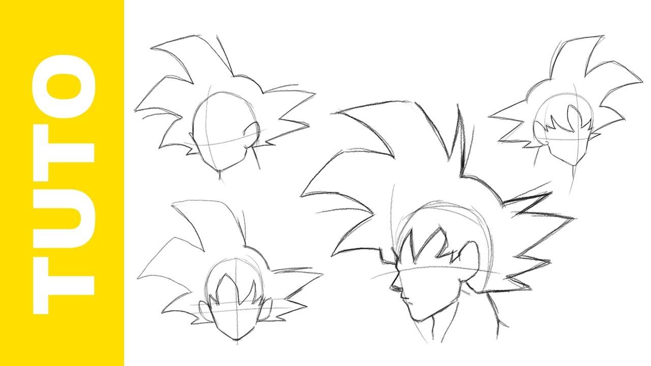 Comment Dessiner Dragon Ball Z La Tete De Goku Tutoriel Youtube