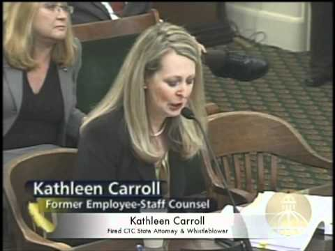 Fired CA Staff Attorney Kathy Carroll Exposes Corruption, Nepotism & Bullying At CTC