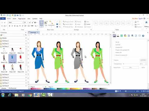 Fashion Design In Edraw Max Edraw Max Tutorial 3 Youtube