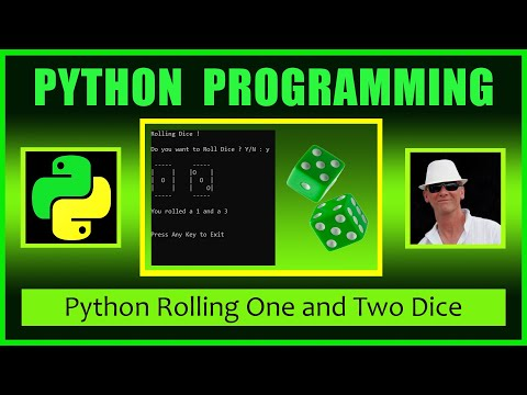 Python Dice Rolling And Dice Games - Beginner Python Lesson Learn Python Fast By Doing A Dice Roller